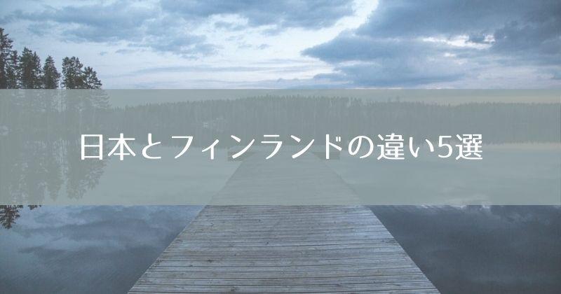 【実体験】日本とフィンランドの違い5選【リクルートスーツは喪服!?】