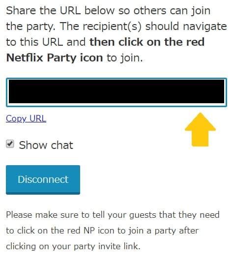 Netflix partyの使い方6