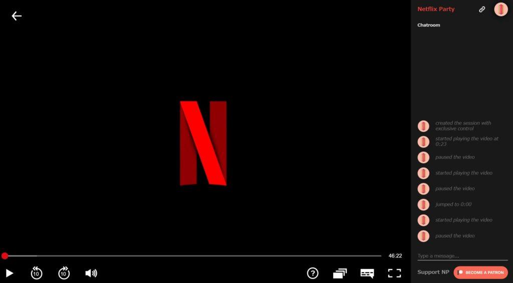 Netflix partyの使い方7