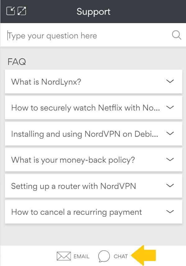 NordVPNの解約方法と返金手順7