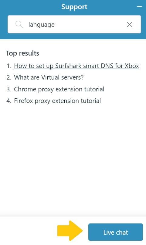 Surfsharkのカスタマーサービスの使い方4