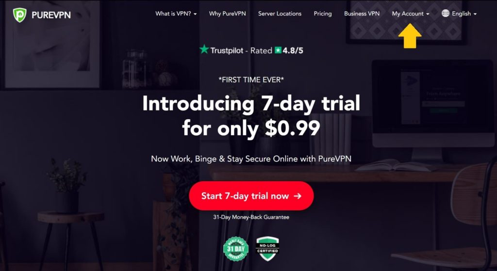 PureVPNのウェブサイトで解約・返金項目は見つからない?2