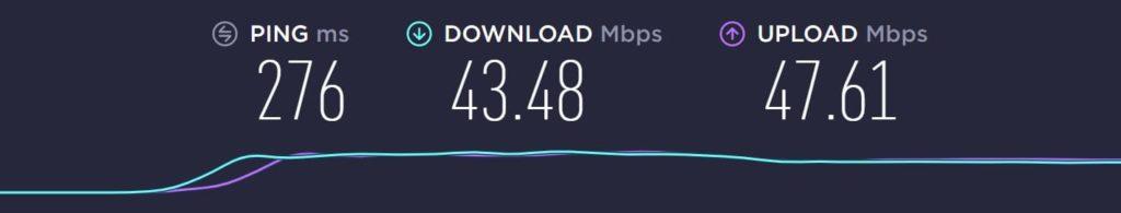 フィンランドから日本のサーバーに接続した結果2